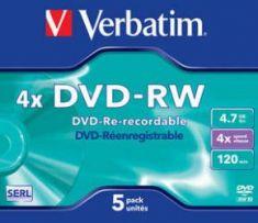 DVD-RW - 4,7 Gb - Pack de 5