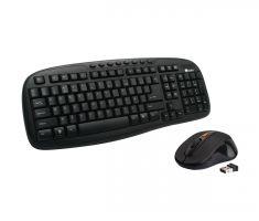 Kit clavier multimedia et souris optique sans fil noir