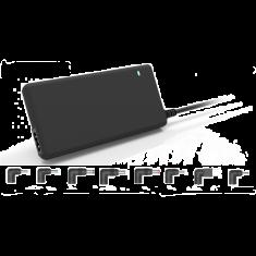 Chargeur universel pour PC portable 90W Format slim , 1 port USB intég 8 fiches inclus noir