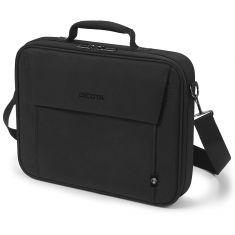 """DICOTA Sacoche MULTI BASE Noir Eco pour PC Portable 13""""-14.1"""" Légère avec protection polyester cadre métal et plusieurs compartiments D31323-RPET"""