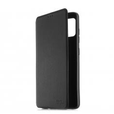 ***Folio avec fenêtre - Galaxy J6+ Noir Accès caméra - Léger - Flexible