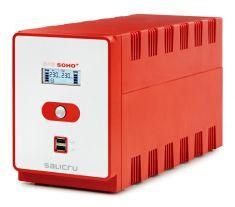 SALICRU Onduleur SPS 1200 SOHO + Line-interactive 1200VA 2xUSB LCD 4prises IEC +2 protegee ADSL Cold Start Garantie 2 ans 647CA000010