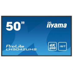 "IIYAMA LFD 49,5"" dalle IPS LED 18/7 3840x2160 VGA DVI HDMIx2 Haut-parleurs 500cd/m² Paysage/port 8ms MediaPlayer LH5042UHS-B1"
