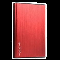 Boitier externe USB3.0 pour DD 2.5'' aluminium brossé  rouge HEDEN