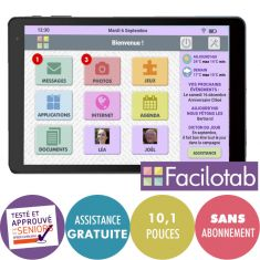 CDIP Syteme FACILOTAB Logiciel pour Tablettes Android version illimité Config mini: Android 5 Ecran 9.7'' 16Go stockage-Vendu sans tablette-