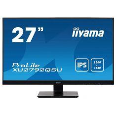 """Moniteur IIYAMA 27"""" dalle IPS 5ms ULTRA MINCE 2560x1440 FreeSync HP DVI HDMI DisplayPort USB-HUB pied régl Mate / XU2792QSU-B1"""
