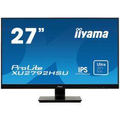 "Moniteur IIYAMA 27"" dalleIPS LED 4K 3840x2160 Ultra Mince 300 cd/m² DVI HDMI Display PortUSB HUB x2 XU2792UHSU-B1"