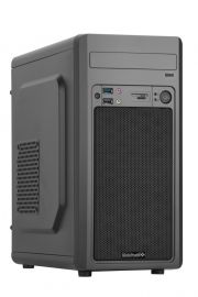 Boîtier PC - Micro ATX - BLACK AERO - Alimentation 480W - Lecteur de carte