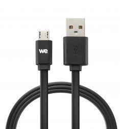 Câble USB/micro USB plat 2m noir