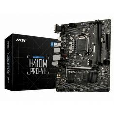 CM MSI H410M-PRO-VH Carte mère Micro ATX Socket 1200 Intel H410 Express 2x DDR4 - SATA 6Gb/s + M.2 PCIe NVMe - USB 3.0 - 1x PCI-Express 3.0 16x