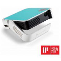 PROJECTEUR VIEWSONIC M1 Mini WVGA (854x480)Led 120 Lumens 500:1 HDMI USB 2.0 30000hrs vie Hp:2W JBL batt.5000mAh 3 coques fournies