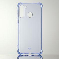 WE Coque de protection BLEU pour smartphone Samsung Galaxy A21 Fabriqué en TPU. Ultra résistant Apparence du téléphone conservée.