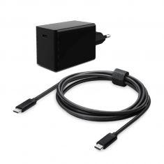 Chargeur universel USB-C 45W HEDEN PD 3.0, smartphone & PC Portable câble type C – type C de 1.20m 3A Noir