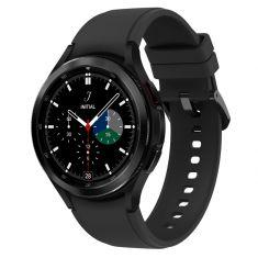SAMSUNG Galaxy Watch4 Classic 46M 4G Noir Acier Bracelet silicone OS Google Electro cardiogramme pression sanguine Design urbain SM-R895FZKAXEF DAS 1,458 W/kg