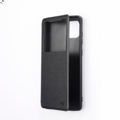 ***Folio avec fenêtre - Galaxy J4+ Noir Accès caméra - Léger - Flexible