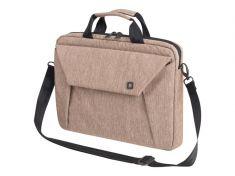 """DICOTA Sacoche Slim Case EDGE Beige Pr PC portable 14""""-15.6"""" Polyester Mousse EVA Rembouré Multi poches D31387"""