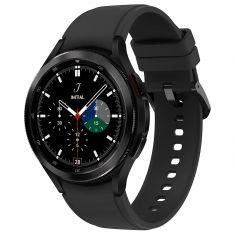 SAMSUNG Galaxy Watch4 Classic 46M Bluetooth Noir Acier Bracelet silicone OS Google Electro cardiogramme et pression sanguine Design urbain SM-R890NZKAXEF