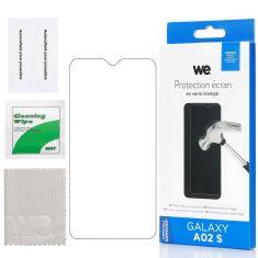 Verre Trempé pour Samsung Galaxy A02S (6,5'')- Film Protection écran Anti-Rayures - Anti-Bulles d'air Ultra Résistant - Dureté 9H Glass