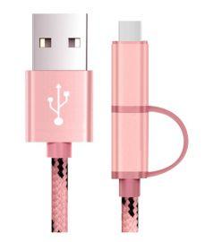 Câble de recharge - Micro USB & USB-C - Noir & Rose