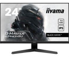 Ecran IIYAMA 23.8'' 1ms G-Master Bl Black Hawk 1920x1080 75Hz 250cd/m² 1000:1 HDMI DisplayPort 2x USB HP BlackTuner / G2440HSU-B1