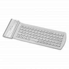 Clavier Bluetooth en Silicone - Silver