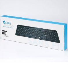 Clavier sans fil 2.4Gh/BT HEDEN 104keys, support tél intégré connexion BT3.0&BT5.0&2.4Ghz pile inclus, noir