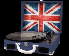 Platine vinyle H.Turn II Halterrego BT Out, egstr USB BLUE ROI DRAPEAU UK