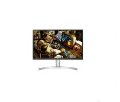 """MONITEUR LG 27"""" LED IPS 16:9 UHD 4K 3840x2160 5ms 300cd/m² 2xHDMI DisplayPort sRGB à plus de 98% Aluminium/Blanc  27UL550-W"""
