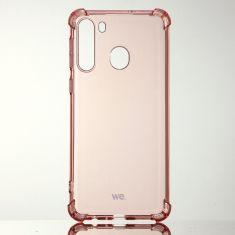 WE Coque de protection ROSE pour smartphone Samsung Galaxy A21 Fabriqué en TPU. Ultra résistant Apparence du téléphone conservée.