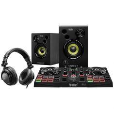 HERCULES DJLEARNING KIT pour apprendre a mixer et devenir DJ Controleur DJ 2 platines+ Enceintes actives 2x15wRMS+ Casque DJ
