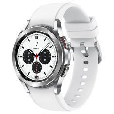 SAMSUNG Galaxy Watch4 Classic 42M Bluetooth Silver Acier Bracelet silicone OS Google Electro cardiogramme et pression sanguine Design urbain SM-R880NZSAXEF
