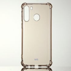 WE Coque de protection NOIR pour smartphone Samsung Galaxy A21 Fabriqué en TPU. Ultra résistant Apparence du téléphone conservée.