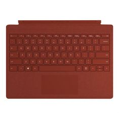Housse/Clavier Microsoft Type Cover Rouge Coquelicot Résistant à l'eau Pour Surface Pro - Retro Eclairé Français / FFQ-00104