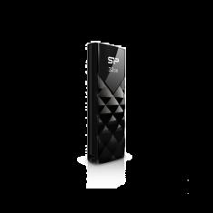 CLE USB SILICON POWER U03 32GB PLASTIC NOIRE USB 2.0 SP032GBUF2U03V1K
