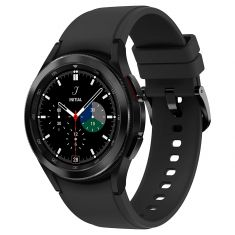 SAMSUNG Galaxy Watch4 Classic 42M Bluetooth Noir Acier Bracelet silicone OS Google Electro cardiogramme et pression sanguine Design urbain SM-R880NZKAXEF