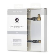 Câble coaxial Mâle/Femelle 2m Haut de Gamme D2 Diffusion