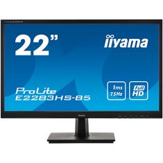 Moniteur IIYAMA 21.5'' LED 16:9 1ms 1920x1080 VGA HDMI DisplayPort HPs cable HDMI inclus Noir E2283HS-B5