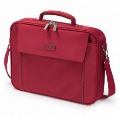 """DICOTA Sacoche MULTI BASE Rouge PC portable 14""""-15.6"""" Légère protection polyester cadre métal et plusieurs compartiments D30920"""