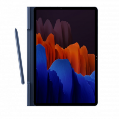 Book Cover Galaxy Tab S7 (SM-T870) Denim Blue 2 Positions Rangement S Pen Design Fin et Elegant SAMSUNG - EF-BT870PNEGEU