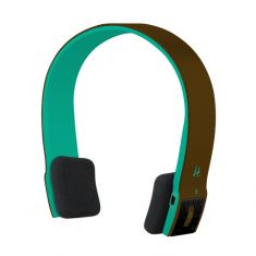 Casque micro Bluetooth - H.Ear - Marron / Vert