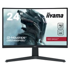 Moniteur IIYAMA 23.6'' 1ms G-Master Red eagle Incurvé 1920x1080 165Hz 2HDMI DisplayPort 2USB HP FreeSync Pied reg.hauteur GB2466HSU-B1